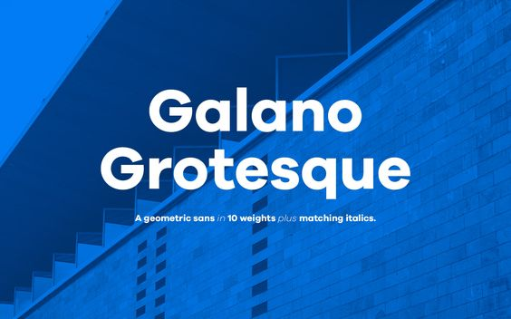 Galano Grotesque | René Bieder