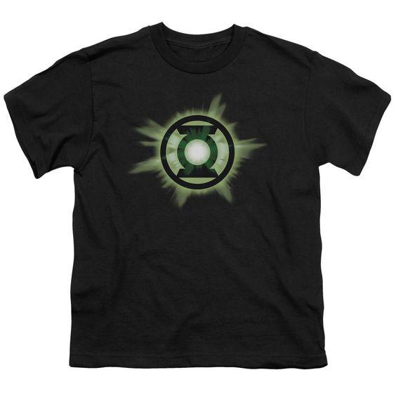 Green Lantern/Green Glow Short Sleeve Youth 18/1 in