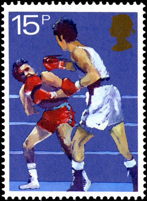 Sports Centenaries - Boxing. Great Britain stamp issued 10 October 1980. Designer: R. Goldsmith.