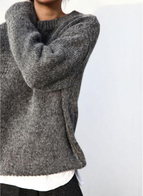 sexy dark grey sweater jumper / womens style