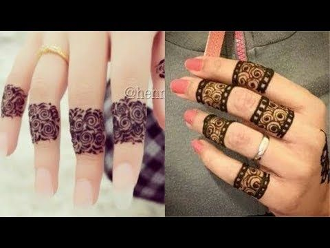 2 Popular Easiest Finger Henna Designs Beautiful Simple Mehndi