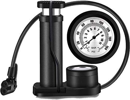 Mini Mountain Bike Foot Floor Pump with Gauge High Pressure Bicycle Air Inflator
