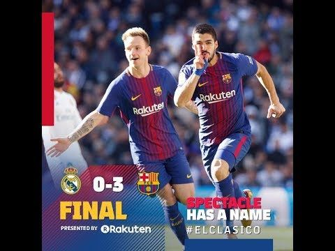 Pin On Real Madrid Vs Barcelona 0 3 Highlights Goals Of El Clasico Final Match On 23th December 2017