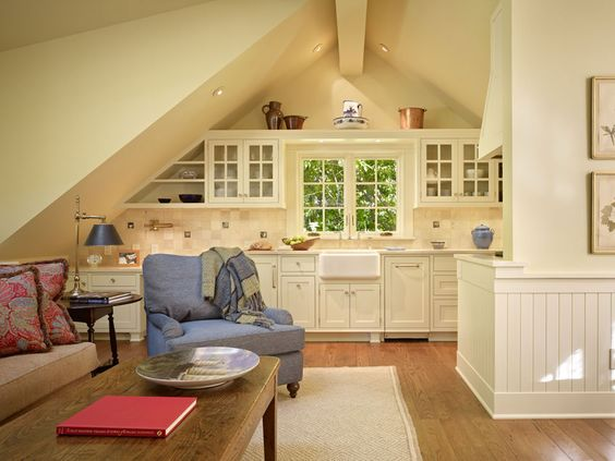 House design house interiors and nooks on pinterest for Carriage house kitchen cabinets