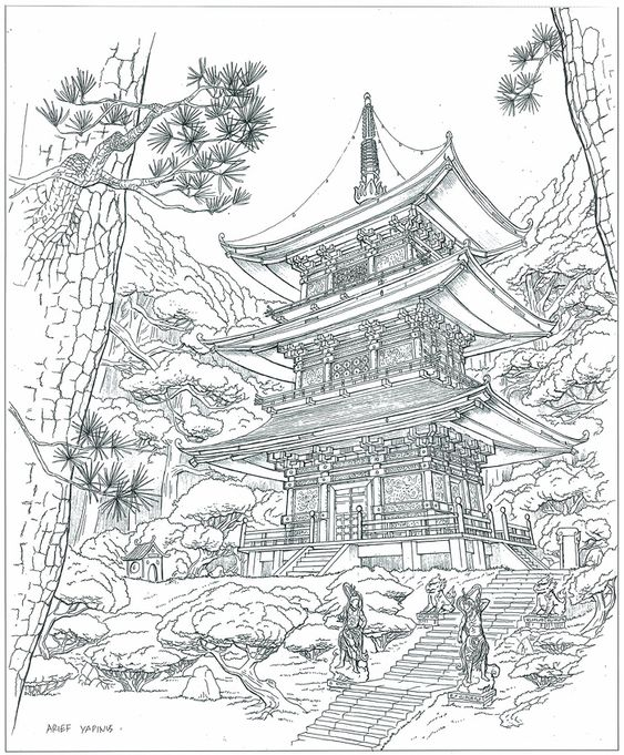 Sketsa Gambar Pemandangan 10