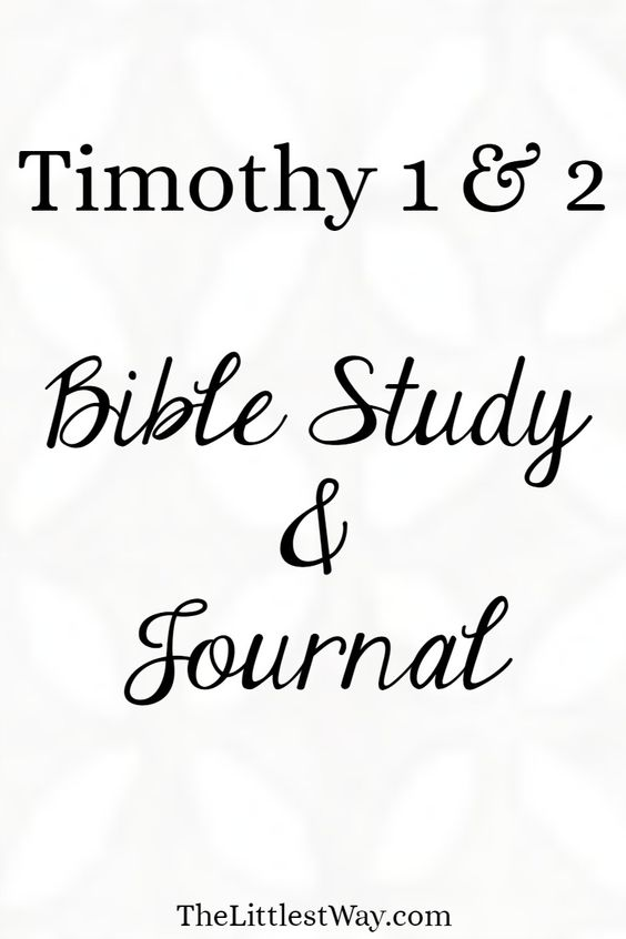 Bible Journaling and Verse Mapping through 1 & 2 Timothy.