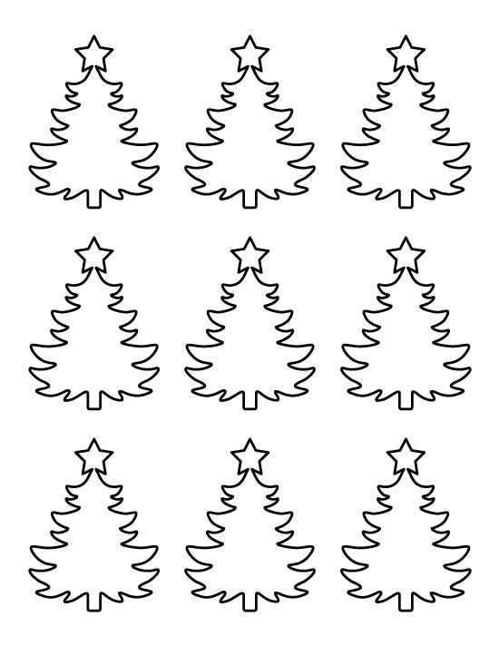 Printable Small Christmas Tree Pattern. Use The Pattern For Crafts