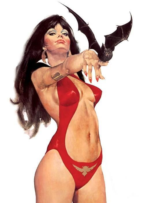 "Vampirella ~ Frank Frazetta ❁❁❁Thanks, Pinterest Pinners, for stopping by, viewing, pinning, & following my boards. Have a beautiful day! ❁❁❁ **<>**✮✮""Feel free to share on Pinterest""✮✮"" #comics #gifts www.unocollectibles.com:"