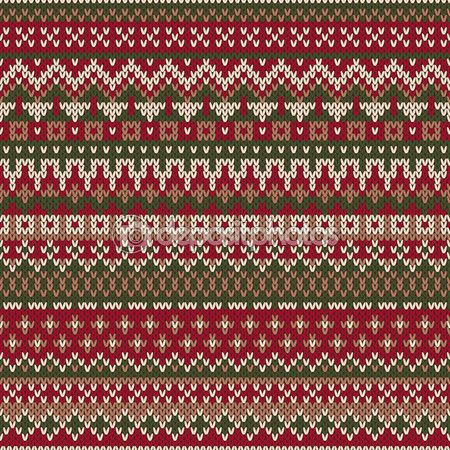 Free Baby Knitting Patterns For Blankets : Christmas Sweater Design. Seamless Knitted Pattern in traditional Fair iSle s...