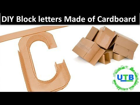 Diy Block Letters Made Out Of Cardboard Marquee Letter C How To Make 3d Letters Out Of Cardboard Youtube Diy Blocks Block Lettering Cardboard Letters