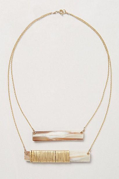 Legend & Song Horn Swing Necklace #anthropologie