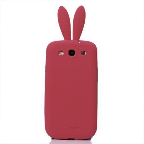 Kaninchen Bunny Series Weich TPU Silikon Case Schutzhülle Protection Protective Cover Soft Rückseite Schale Tasche für Samsung Galaxy S3 i9300 Protector Reine Baby Rosa Red Rot und Schwanz Furry von Comestyle, http://www.amazon.de/dp/B00ENEDIN0/ref=cm_sw_r_pi_dp_hNlhsb03H2V5X