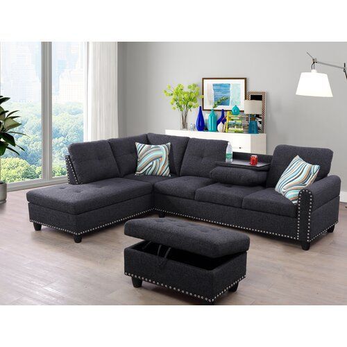 New Rosdorf Park Rico Sectional Ottoman Free Shipping Online Shopping In 2020 Furniture Sectional Sofa Sectional Sofa With Recliner