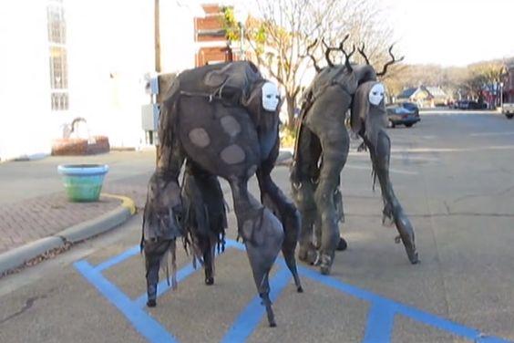 Miyazaki Inspired Walk-On-All-Fours Stilt Costumes