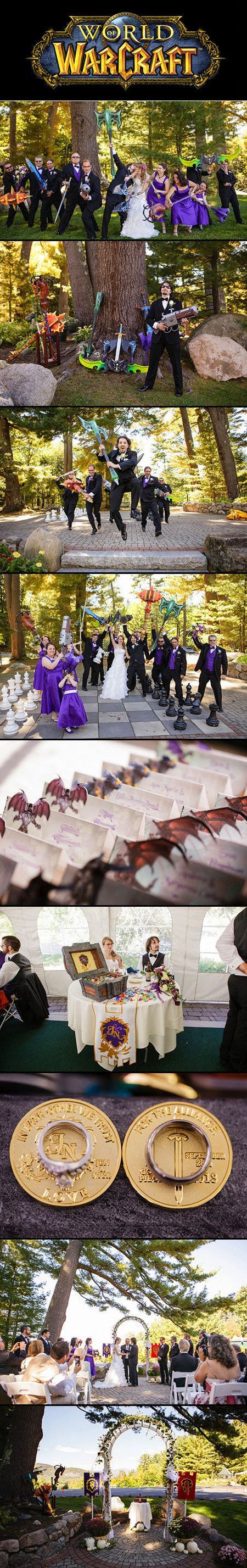 Jen and Nick didn't meet online, but they've developed their relationship through playing World of Warcraft together. So as their relationship grew, they finally decided to build their entire wedding—a real one, not one in Stormwind's Cathedral Square—around WoW.