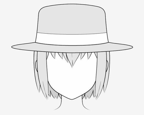 Vẽ nón phớt anime
