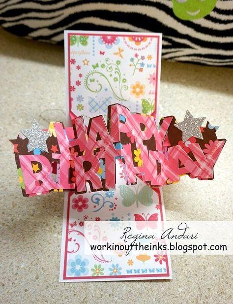 Twist Pop Up Card For Lily Birthday Card Pop Up Birthday Cards Diy Birthday Cards