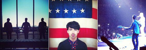 Joe Jonas continua focado na agenda dos Jonas Brothers, mas nem por isso deixou de postar várias fotos legais no Insta. São imagens de shows, dos bastidores das viagens ao lado dos irmãos Nick e Kevin; e uma todo patriota, posando com uma bandeira dos EUA ao fundo.