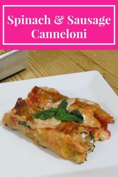 Who says making a cannelloni dish for dinner needs to take hours of slaving in the kitchen?