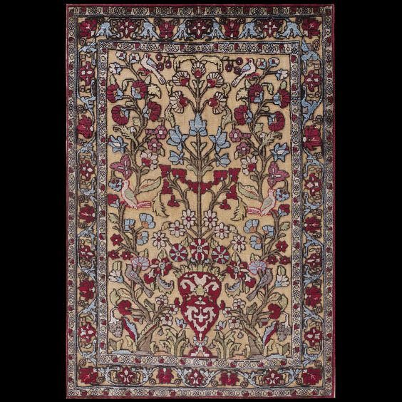 Kashan - Silk Rug - 40-2377 | Persian Formal 2' 4'' x 3' 6'' | Other, Origin…