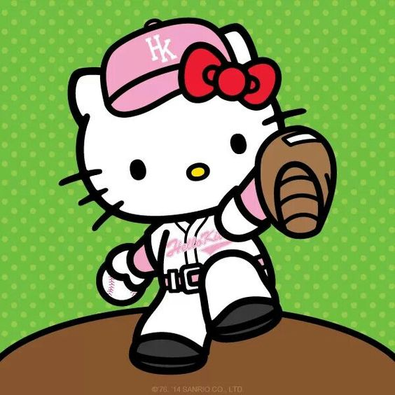 Hello Kitty Baseball Coloring Pages : Hello kitty baseball pinterest japanese