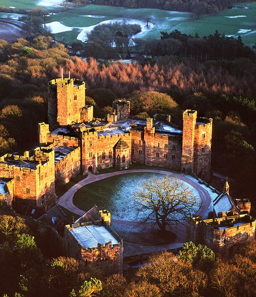 Peckforton Castle, Cheshire, UK  The medieval-style castle was built in the mid-19th century, was turned into a hotel in 1988, and now has 48 individual guest rooms. On the castle grounds, try your hand at falconry, archery, rappelling, and ropes courses.