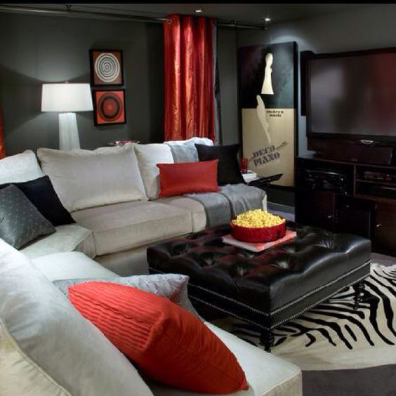 17 Best Images About Media Rooms Love The Black And