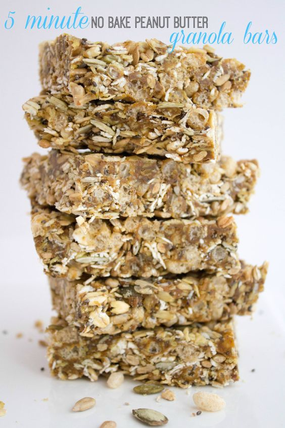5 Minute No Bake Peanut Butter Granola Bars - unbelievably easy  delicious!