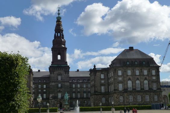 "Christiansborg - where the ""folketing"" is situated."
