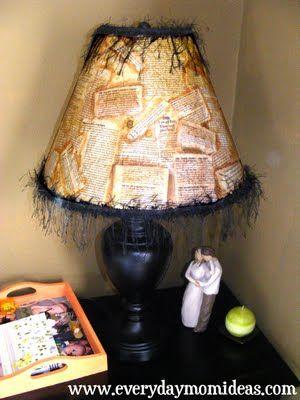 modge podge lampshade