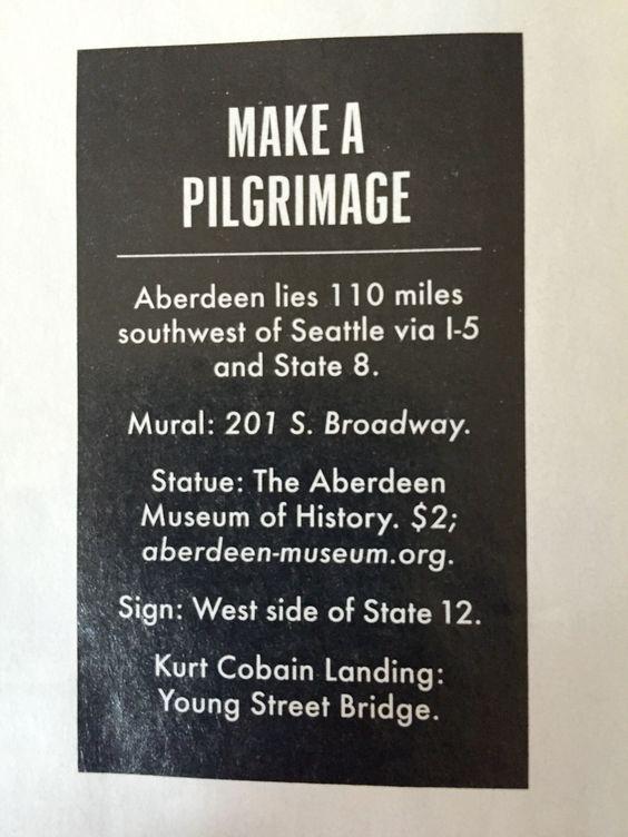 Kurt Cobain pilgrimage to Auburn, WA