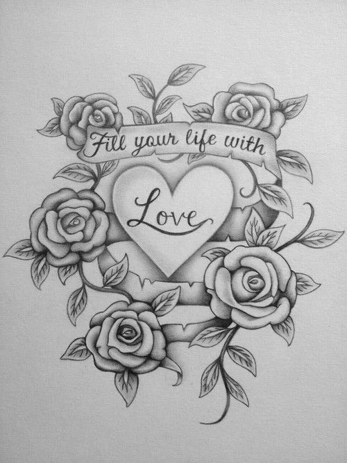 Love Art And Drawing Image Tattoo Design Drawings Cute