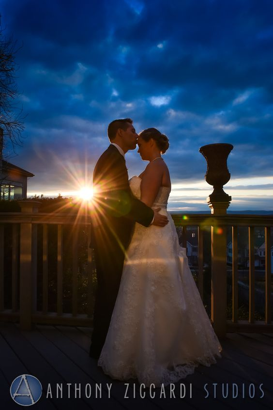 Cristin and Tom at West Mount Country Club.  #sunset #justmarried #bride #groom #aziccardi #anthonyziccardistudios