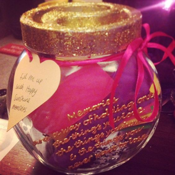 Happy memory jar  Fill it fill of happy memories during the year and open it on New Year's Eve