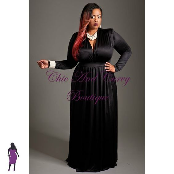 New Plus Size Long Dress with V Neck Long Sleeves and Double Side Slits in Black available at http://www.chicandcurvy.com/dresses/product/9128-new-plus-size-long-dress-with-v-neck-long-sleeves-and-double-side-splits-in-black-1x-2x-3x Model: Janna Plus Model MUA: Make Me Blush - Makeup By Jillian Bianca Hair: Hair by Ashelee Photography: Smash Photo Studio