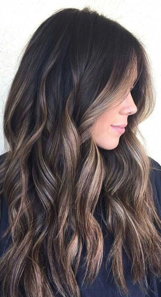 25 Balayage Hair Color Ideas For Black Hair In 2019 Hair Color For Black Hair Brown Hair With Highlights Brown Hair Balayage