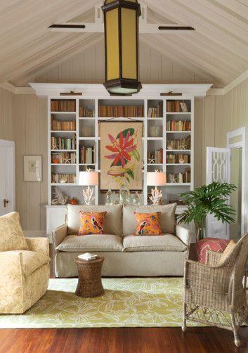 Captiva Pillow Jacobean Print Tangerine Pillow Home