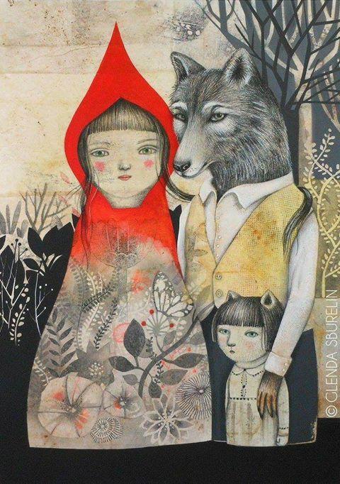 Delicate layering of images and stories in the work of Italian illustrator Glenda Sburelin