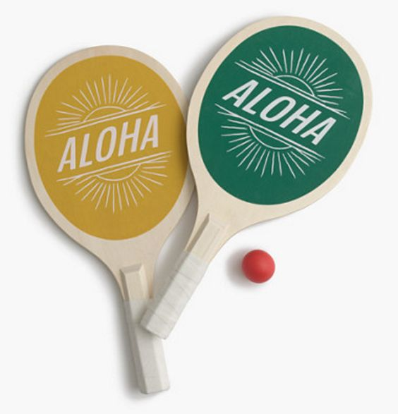 Retro Beach Tennis Paddles