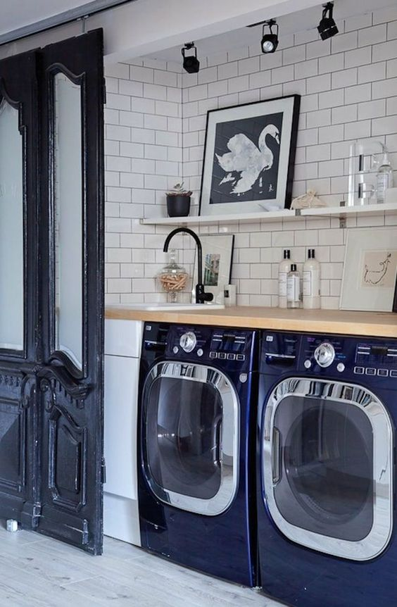 Inspirational Colorful Laundry Room