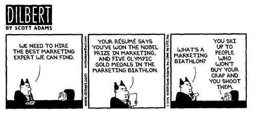 One response to the P&G layoff.   Dilbert comic as a BONUS