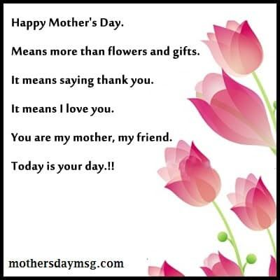 Happy Mothers Day Sayings Card From Daughter To Mom Mom