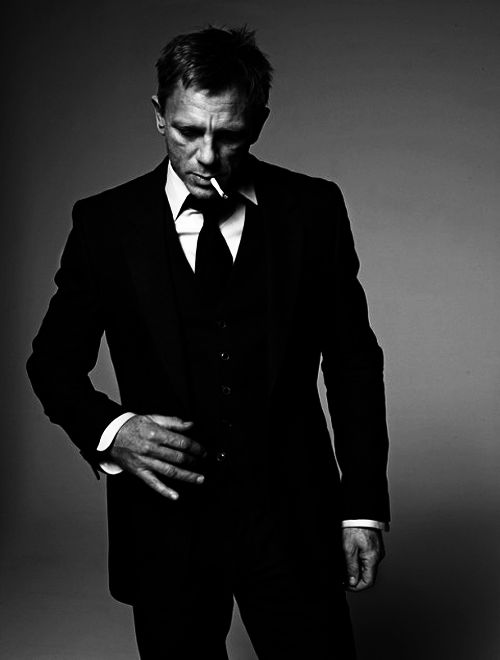 Daniel Craig as James Bond - I just really like this photograph. I can see him as inspiration for a soldier/mercenary character.