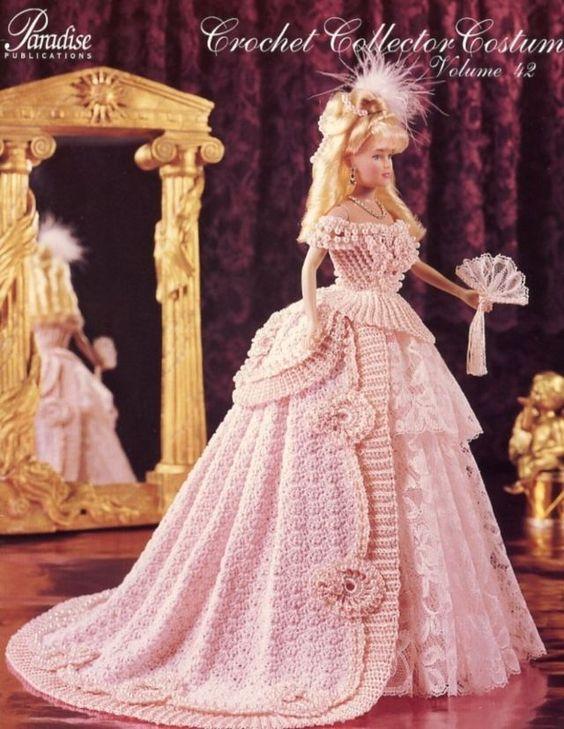 1870 Opera Gown For Barbie Dolls Paradise 42 Crochet