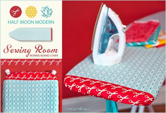 Ironing Board Cover tutorial, via Sew4Home.