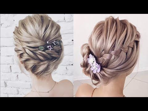 4 Braid Updo Hairstyles 2018 Unique Braided Updos For Medium To Long Hair Youtube Braids For Long Hair Medium Hair Styles Braided Hairstyles Updo
