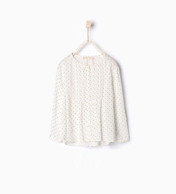 Image 1 de Chemise à pois de Zara