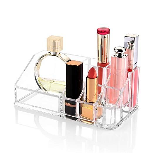 Small Clear Acrylic Makeup Organizer Jewelry Cosmetic Organizer