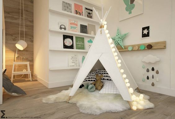Skandinavische Kinderzimmer von ELEMENTY - Pracownia Architektury Wnętrz