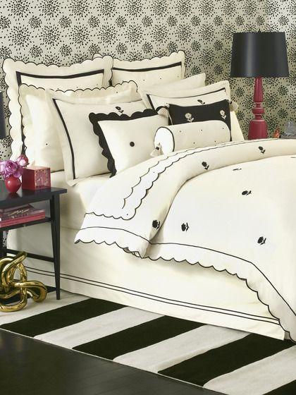 So glam - black and white bedroom! kate spade new york Bedding Piedmont Park Duvet Cover